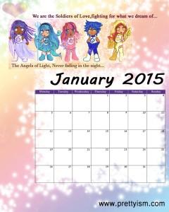 Prettyism Januar 2015 Calendar